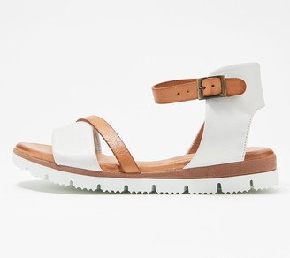 Miz Mooz Leather Ankle Strap Sandals - Shep
