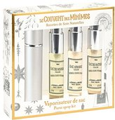 Le Couvent des Minimes Purse Spray Gift Set which includes 3 of our signature fragrances for on the go plus a refillable container to fill with your personal favorite scent