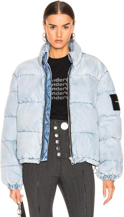 Alexander Wang Puffer Jacket in Bleach | FWRD