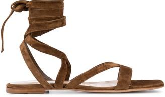 Gianvito Rossi Suede Gladiator Tie-up Sandal