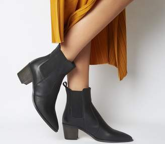 Office Autumn Smart Western Boots Black Leather