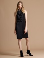 Halston Cowl Drape Dress