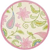 Safavieh Handmade Kids Ivory/ Pink Wool Rug (8' Round)
