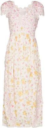 LoveShackFancy Archer floral-print midi dress