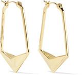 Noir Napoleon gold-tone hoop earrings