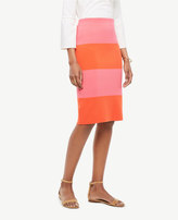 Ann Taylor Colorblock Stripe Sweater Skirt