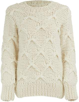 Officine Generale Diamond wool sweater