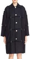 Julien David Women's Rivet Detail Paneled Wool Coat