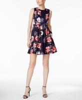 Jessica Howard Petite Floral-Print Fit & Flare Dress