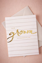 BHLDN Foiled Groom Card
