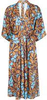 Tome floral print belted dress