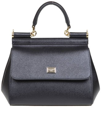 Dolce & Gabbana Small Sicily Bag In Dauphine Leather