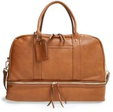 Sole Society 'Mason' Faux Leather Weekend Bag - Brown