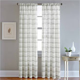 CHF Albury Stripe Rod-Pocket Sheer Curtain Panel