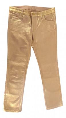 Louis Vuitton Gold Cotton Jeans
