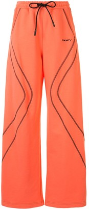 Marcelo Burlon County of Milan Stitched Flared Track Pants