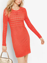 Michael Kors Hand-Crocheted Cotton Dress