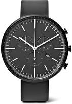 Uniform Wares M42 Chronograph Pvd-coated Stainless Steel And Rubber Watch - Black