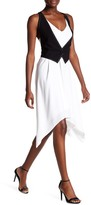 BCBGMAXAZRIA Marciella Faux Vest Dress