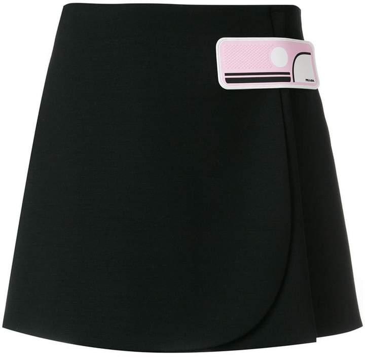 Prada appliqué short skirt