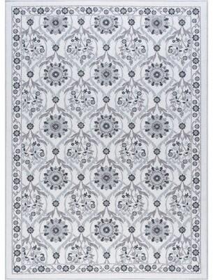 Charlton Home Ashbrook Floral Gray Rug Rug Size: 3'11'' x 5'3''