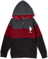 U.S. Polo Assn. Red & Black Color Block Fleece Hoodie - Boys