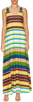 Plenty by Tracy Reese Cotton Stripe Maxi Tee Dress