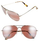 Maui Jim Women's Mavericks 61Mm Polarizedplus2 Aviator Sunglasses - Gold/ Maui Rose