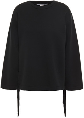 Stella McCartney Fringed Cotton-scuba Sweatshirt