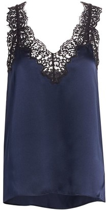 CAMI NYC The Leia Lace Silk Camisole Top