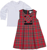Florence Eiseman Tartan Plaid Pleated Jumper w/ Blouse, Size 12-24 Months