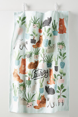 Anthropologie Caturday Dish Towel By in Blue Size DISHTOWEL