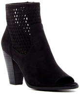Report Rajin Perforated Peep Toe Bootie
