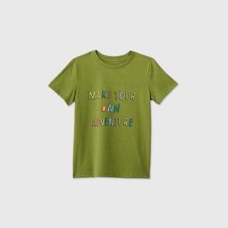 Cat & Jack Boys' Short Sleeve 'Make Your Own Adventure' Graphic T-Shirt - Cat & JackTM