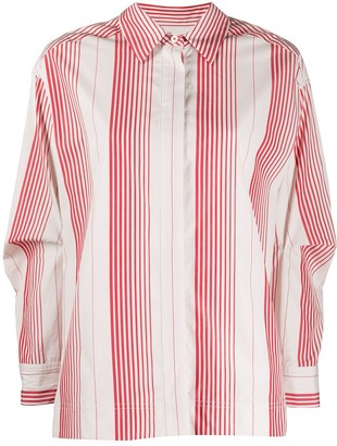 Odeeh vertical striped shirt