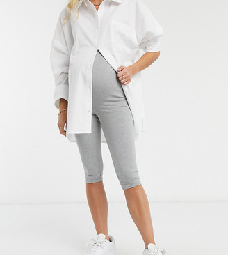 Missguided Maternity legging with waistband in gray