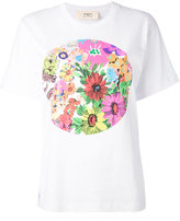 Ports 1961 floral circle print T-shirt - women - Cotton - XS