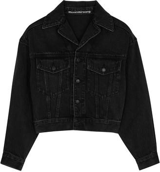 Alexander Wang Black Cropped Denim Jacket