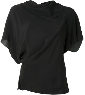 Rick Owens Asymmetric Draped Detail Top