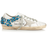 Golden Goose Deluxe Brand Super Star crystal-embellished leather trainers
