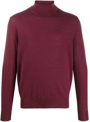Canali plain turtleneck jumper