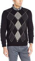 Dockers Argyle Crew-Neck Long-Sleeve Soft Acrylic Sweater