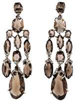 Alexis Bittar Smoky Quartz & Diamond Chandelier Earrings