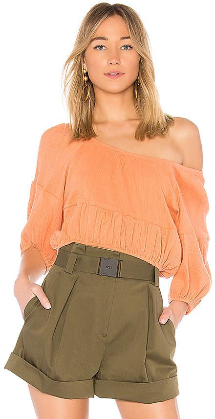 Apiece Apart Amber One Shoulder Top