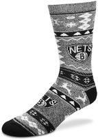 For Bare Feet Men's Brooklyn Nets Holiday Crew Socks
