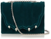 Marco De Vincenzo Paw-effect velvet cross-body bag