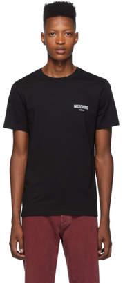 Moschino Black Flocked Logo T-Shirt