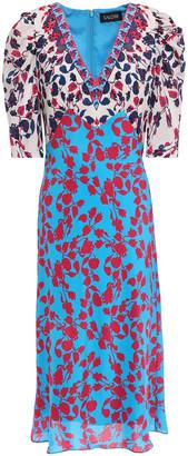 Saloni Colette Floral-print Silk Crepe De Chine Dress