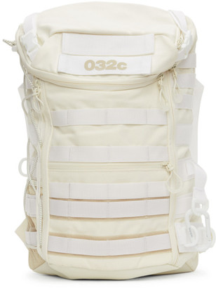 032c White adidas Originals Edition Canvas Logo Backpack