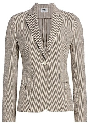 Akris Punto Striped Seersucker Blazer